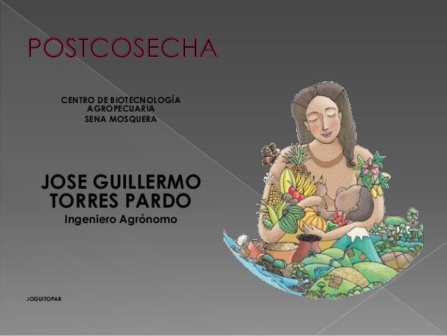 CENTRO DE BIOTECNOLOGÍA AGROPECUARIA SENA MOSQUERA  JOSE GUILLERMO TORRES PARDO Ingeniero Agrónomo  JOGUITOPAR