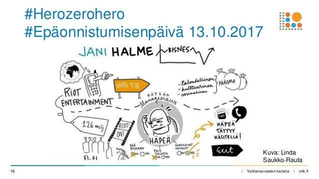 I Valtioneuvoston kanslia I vnk.fi16 #Herozerohero #Epäonnistumisenpäivä 13.10.2017 Kuva: Linda Saukko-Rauta