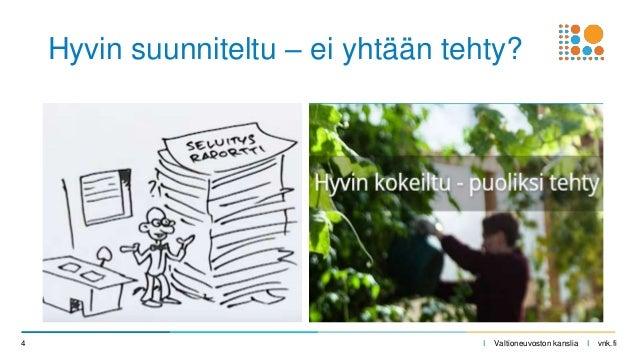 I Valtioneuvoston kanslia I vnk.fi4 Hyvin suunniteltu – ei yhtään tehty?