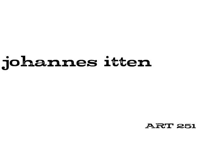 johannes itten ART 251