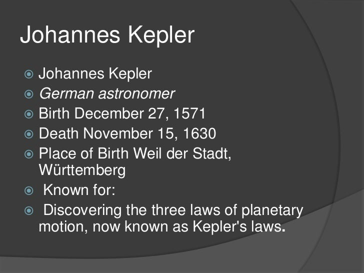 johannes kepler birthplace