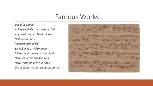 an introduction to the family of musicians of johann sebastian bach 9 (from the new world) an introduction to schubert's piano quintet trout  an introduction to j  the life and works of johann sebastian bach, narration  with musical excerpts 1  new beginnings: bach remarries and his family grows.