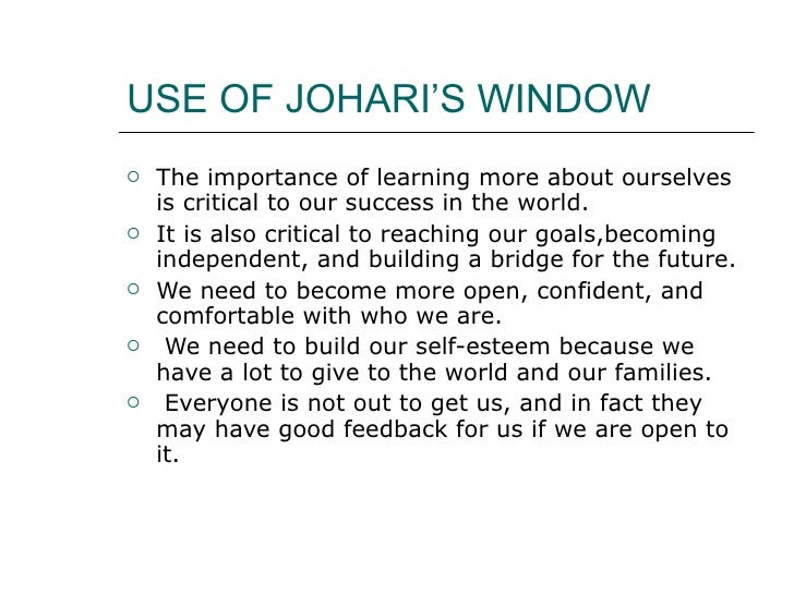 johari window assignment Explore juli clay's board communication- ice breakers on pinterest johari window - law and logic find this pin and more on communication- ice breakers by juliclay (homework assignment new skills book.