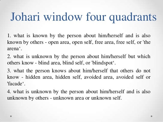 essay on johari window Free and custom essays at essaypediacom take a look at written paper - the johari window.