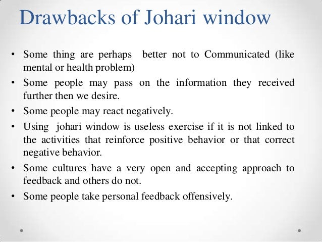 essay about johari window Mental health nursing assignment sample wwwnewessayscouk 10 introduction the following piece takes the form of a reflective analysis of personal development the johari window (luft, 1969) is a widely used heuristic cognitive psychology tool.