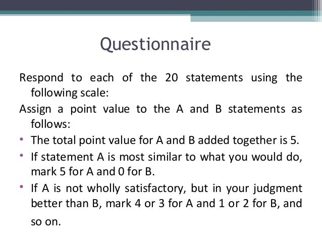3 point value statement