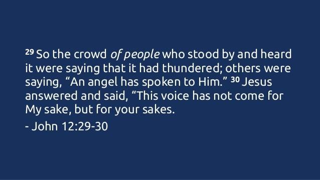 Kuvahaun tulos haulle John 12:29