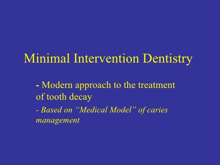 minimal intervention dentistry the challenge for materials
