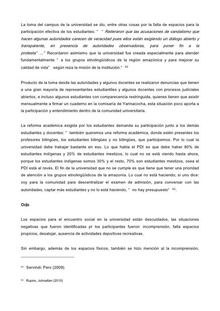 La interculturalidad en la educación universitaria en el Perú, el cas…