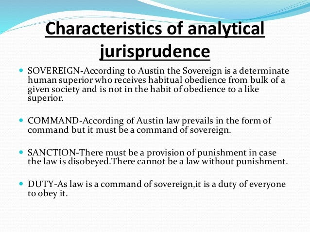analytical school of jurisprudence notes