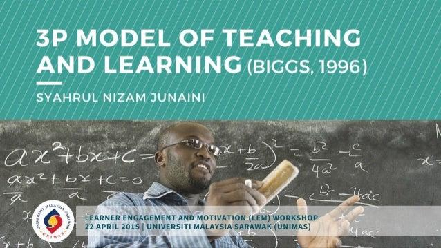 3P Model of Teaching and Learning (John Biggs, 1996)