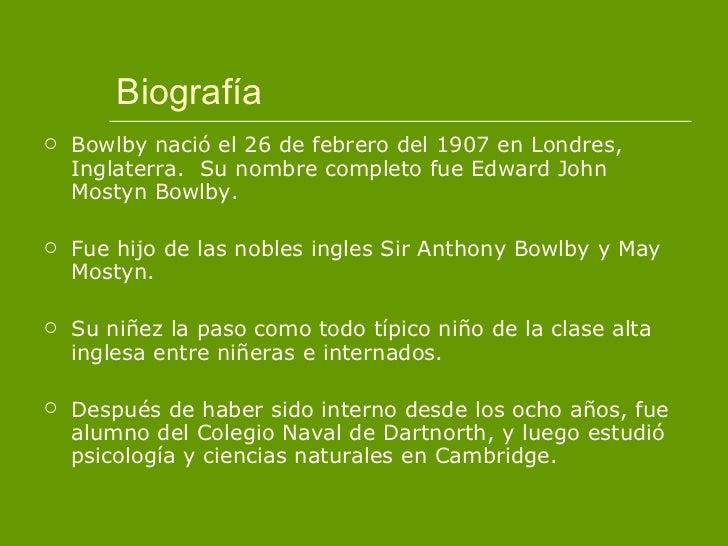 Teoria del apego john bowlby