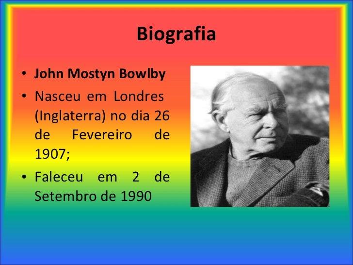 John Bowlby e a Teoria do Apego Slide 2