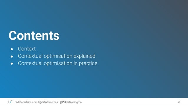 John Brasington | BrightonSEO September 2018 | Contextual optimisation: How to create value led content for your ecosystem Slide 3