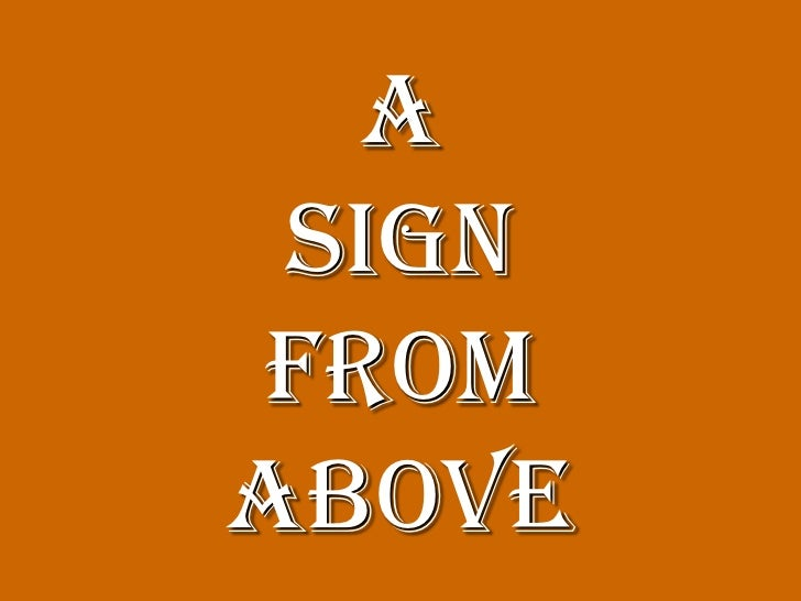 A signfromabove