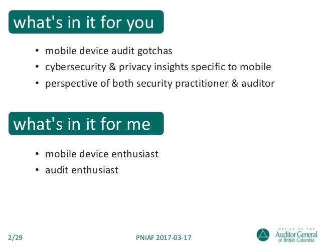 Smartphones & tablets in government — a CISO-turned-auditor's take on mobile devices Slide 2