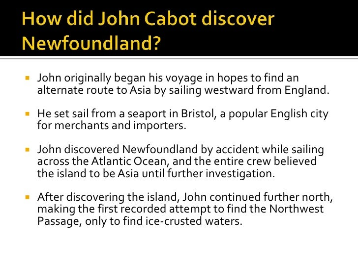 what did john cabot do
