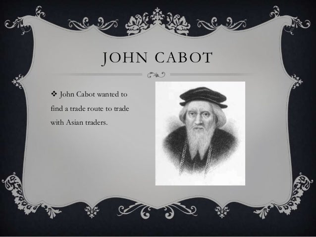 what was john cabot looking for
