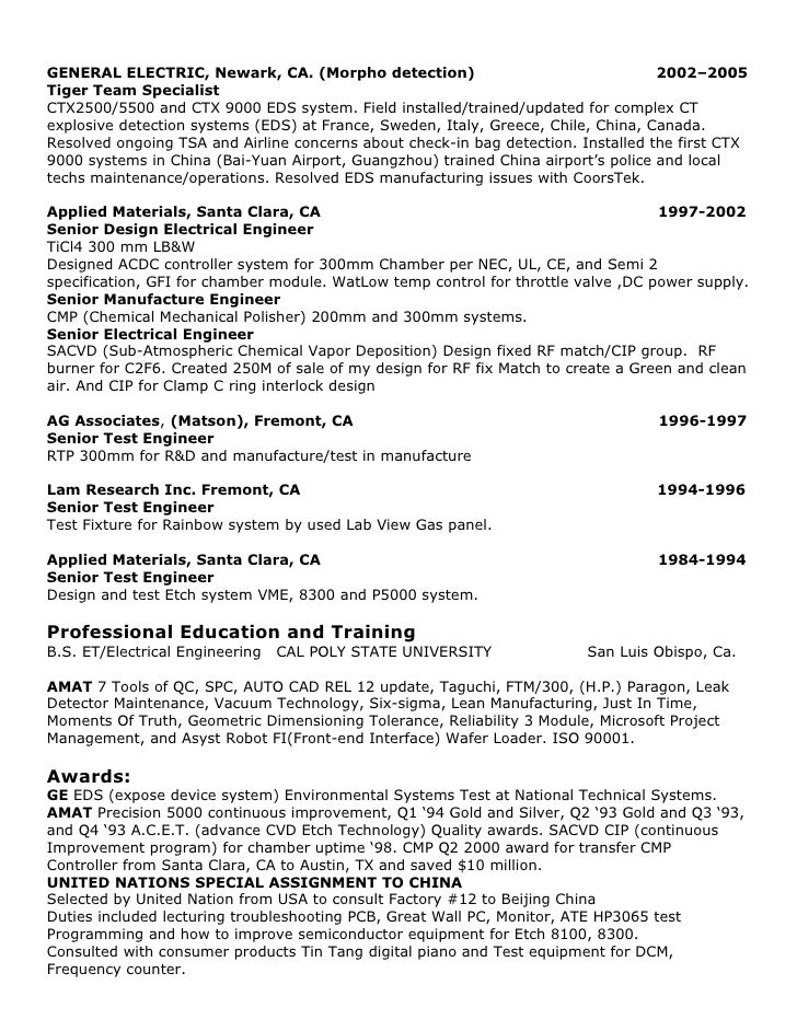 Charming Test Engineer Resume  3 Page Resume