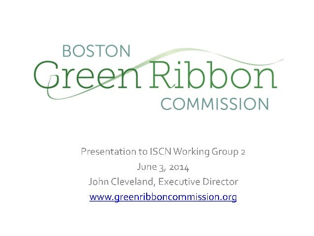 John Cleveland: Boston Green Ribbon Commission