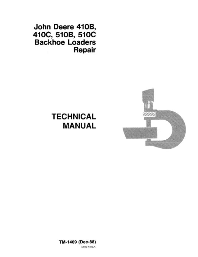 john deere 410 b backhoe loader service repair manual rh slideshare net