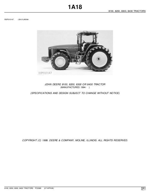 John Deere 8100 Wiring Harnes