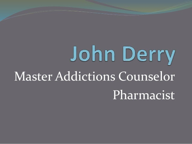 Master Addictions Counselor Pharmacist