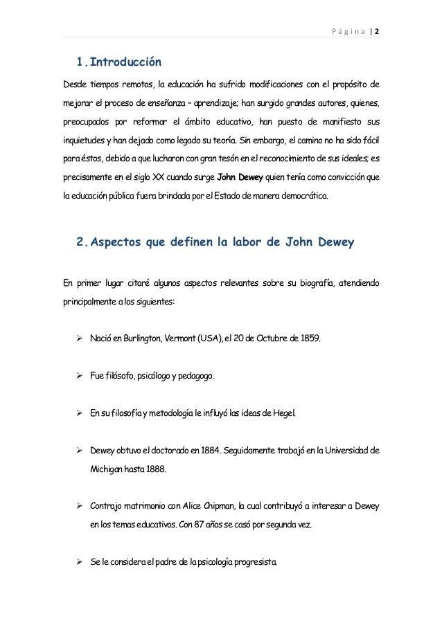 John dewey Slide 3