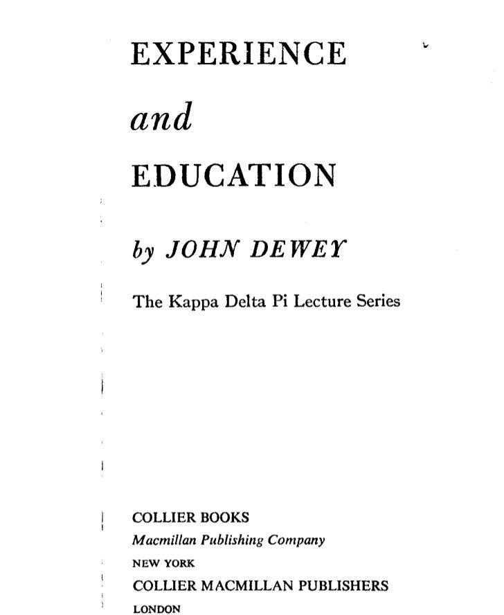 John dewey   experience and education - chapter 2