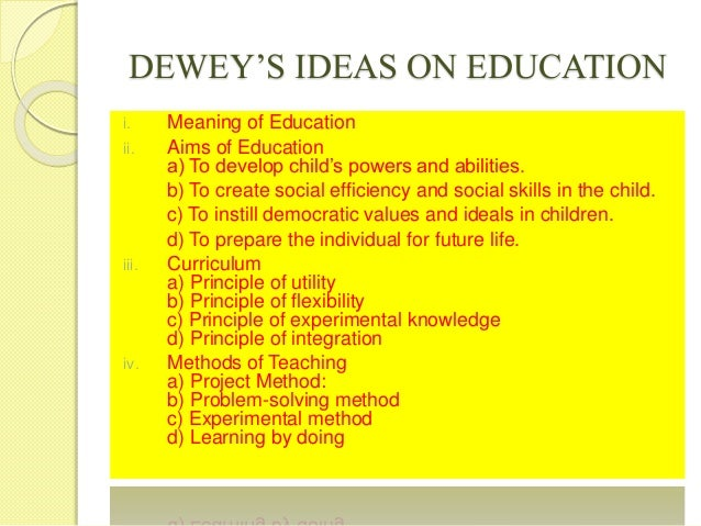 John dewey contributions to education