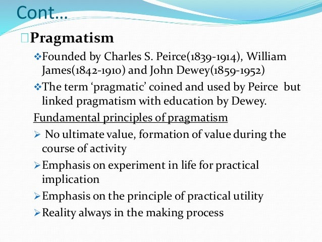 examples of pragmatism in the classroom
