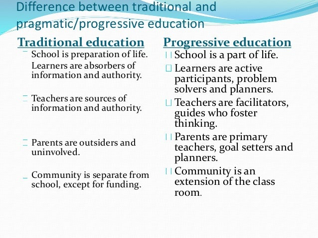 education and the concept of pragmatism How relevant is pragmatism to the education system today.