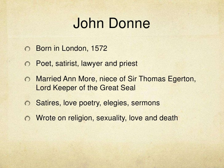 john donne biography summary examples