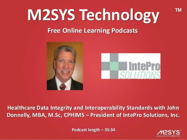 M2SYS Technology                                         TM               Free Online Learning PodcastsHealthcare Data Int...