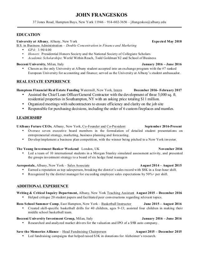 John Frangeskos Resume
