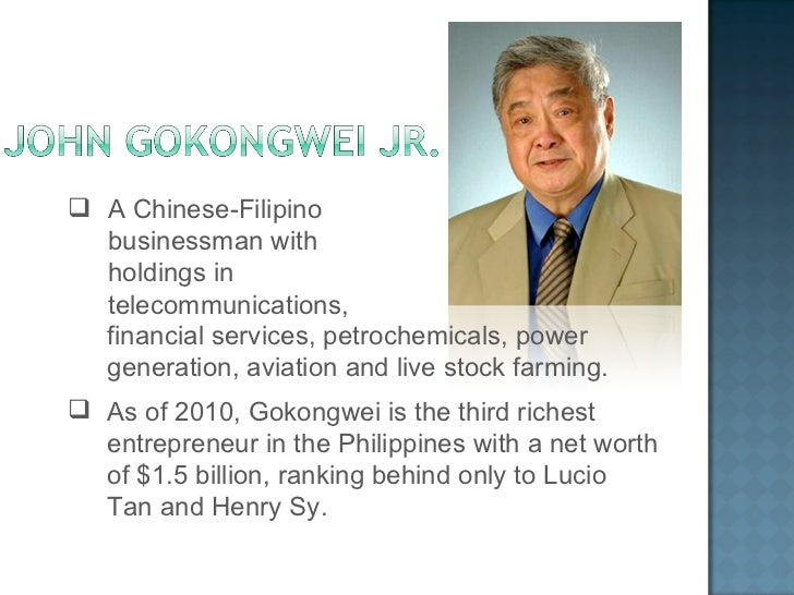 henry sy and john gokongwei Combination of file photos of filipino business tycoons henry s sy, sr, john l gokongwei, jr, lucio c tan, sr, and george s k ty henry sy, sr, the man.