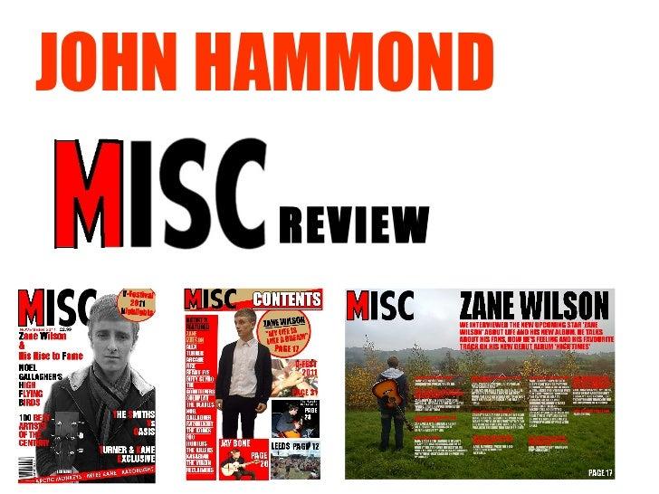 JOHN HAMMOND REVIEW