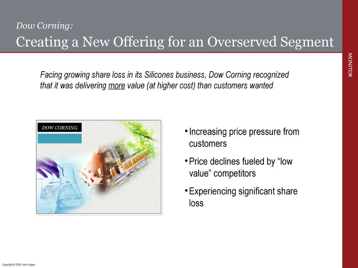 Dow Corning: Creating a New Offering for an Overserved Segment Facing growing share loss in its Silicones business, Dow Co...