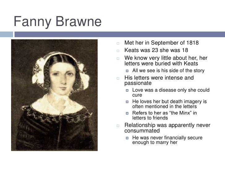 fanny brawne and john keats relationship questions