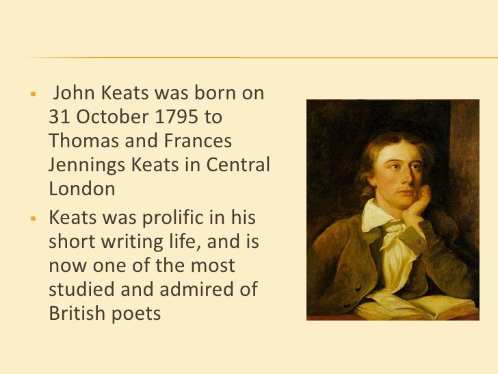 John keats contribution to english literature