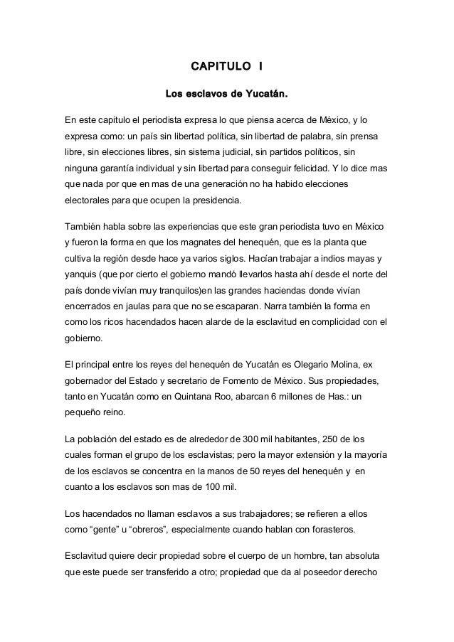 México Bárbaro de John kenneth Turner (Resumen por capitulos)