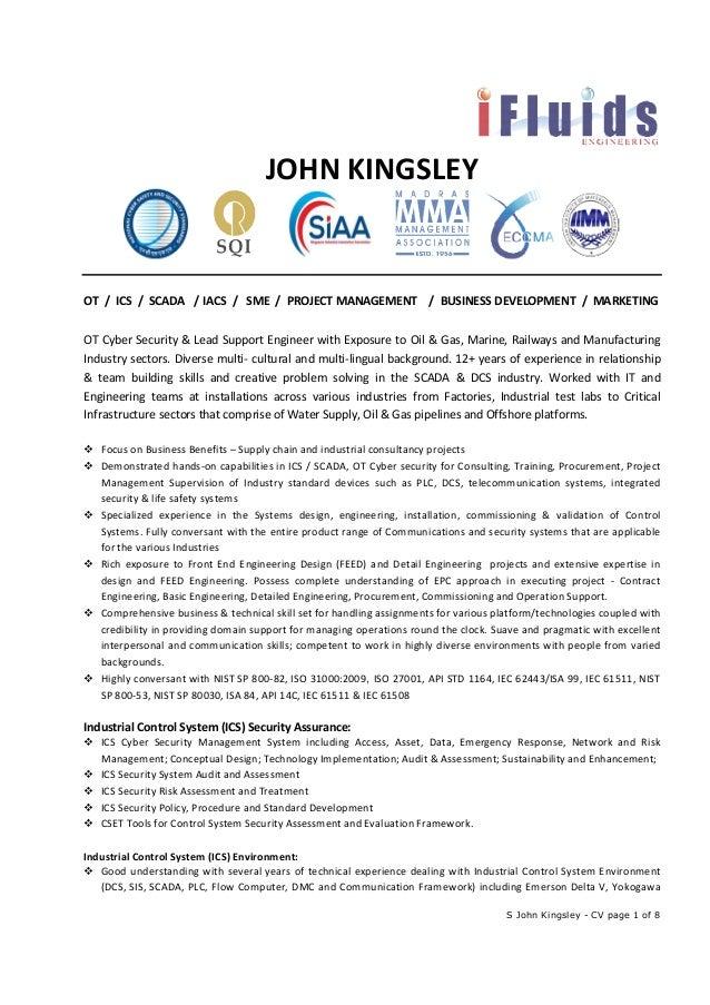john kingsley ot ics scada cyber security consultant
