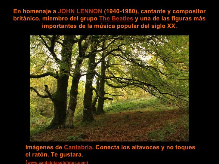 Imagine wave En homenaje a  JOHN LENNON  (1940-1980), cantante y compositor británico, miembro del grupo  The Beatles  y u...