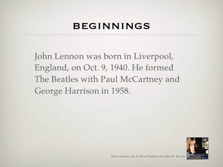 John Lennon: Life Is What Happens Slide 2