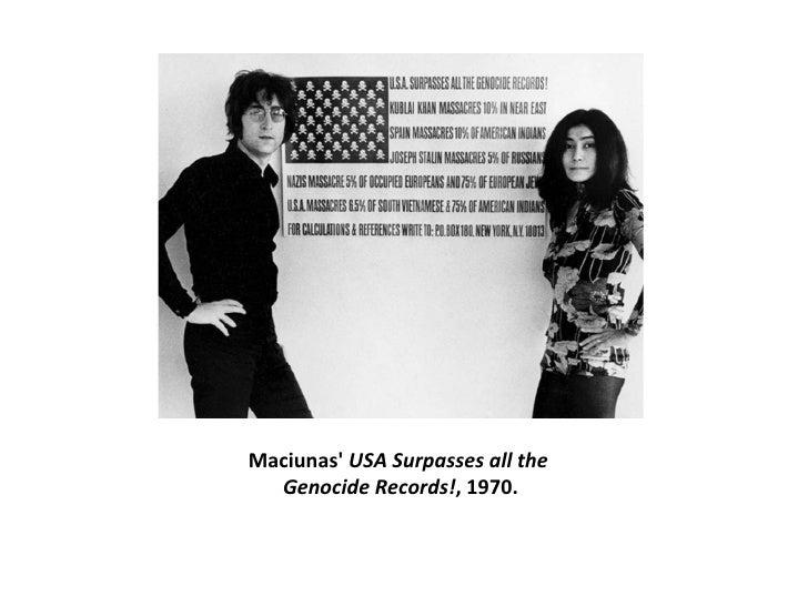 Maciunas'  USA Surpasses all the  Genocide Records! , 1970.