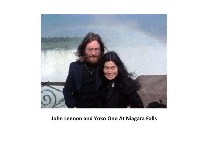 John Lennon and Yoko Ono At Niagara Falls