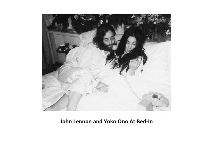 John Lennon and Yoko Ono At Bed-In