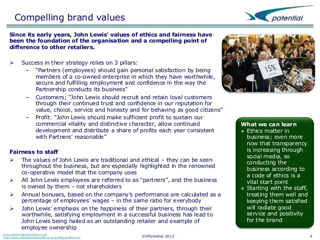 john lewis customer service case study Organisational culture: how partnership works at john organisational culture at john lewis at jlp which drives sales and customer service so.
