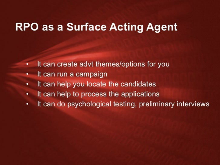 Psychological effects of method acting