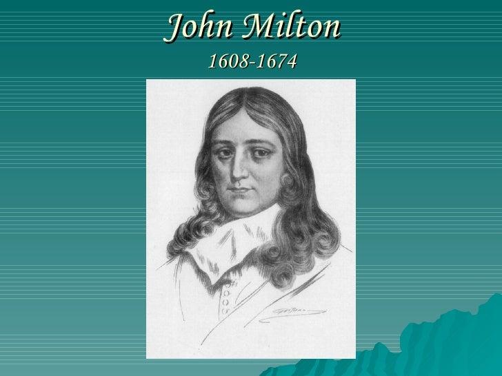 John Milton 1608-1674